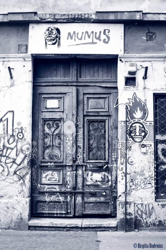 Blue Street Art Door
