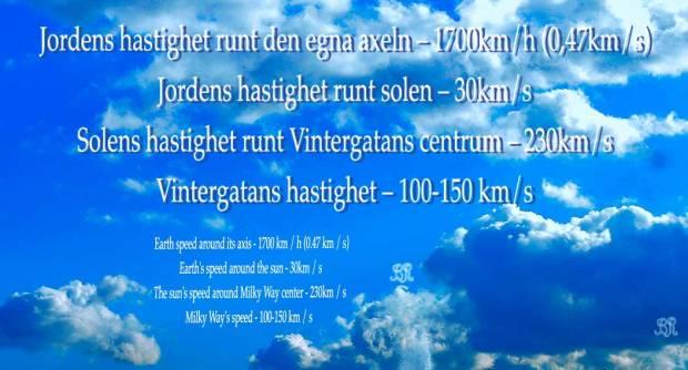 Earth speed - Jordens hastighet