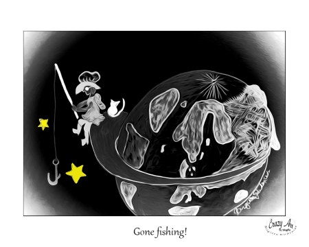 Crazy Art - To be right in the world - Gone fishing